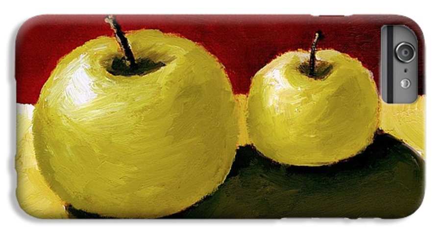 Apple IPhone 6 Plus Case featuring the painting Granny Smith Apples by Michelle Calkins