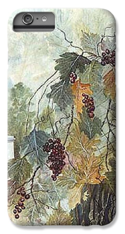 Fruit IPhone 6 Plus Case featuring the painting Grapevine Topiary by Ben Kiger