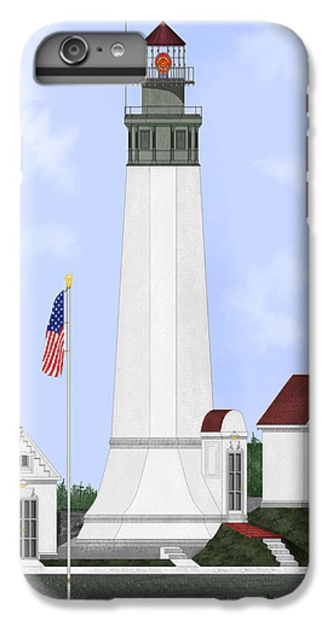 Lighthouse IPhone 6 Plus Case featuring the painting Grays Harbor Light Station Historic View by Anne Norskog