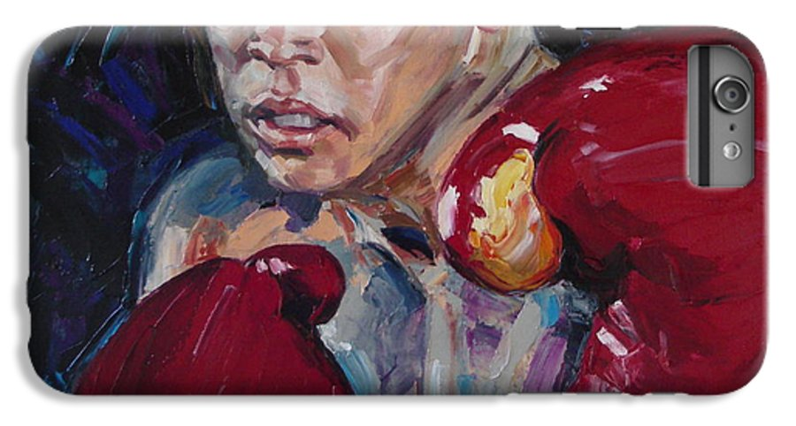 Figurative IPhone 6 Plus Case featuring the painting Great Ali by Sergey Ignatenko