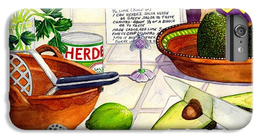Guacamole IPhone 6 Plus Case featuring the painting Great Guac. by Catherine G McElroy