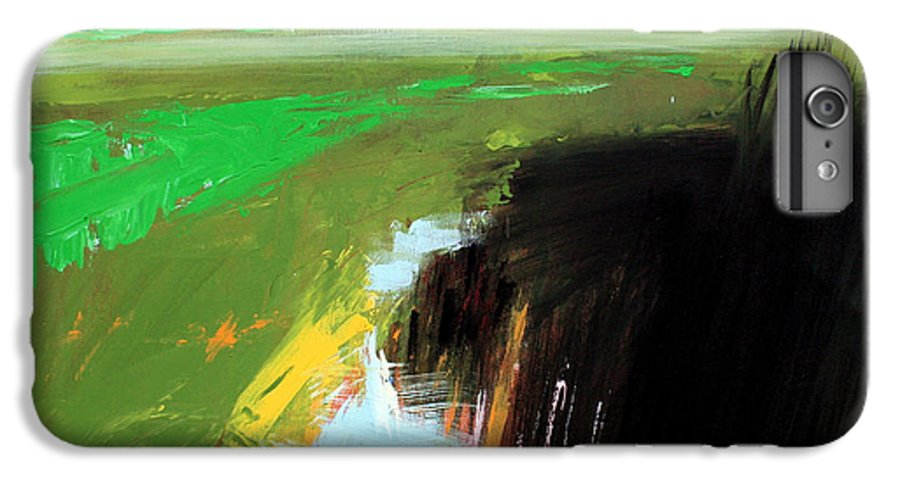 Abstract Landscape IPhone 6 Plus Case featuring the painting Green Field by Mario Zampedroni