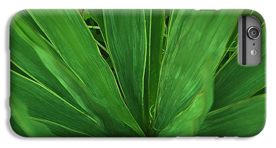 Green Plant IPhone 6 Plus Case featuring the photograph Green Glow by Linda Sannuti