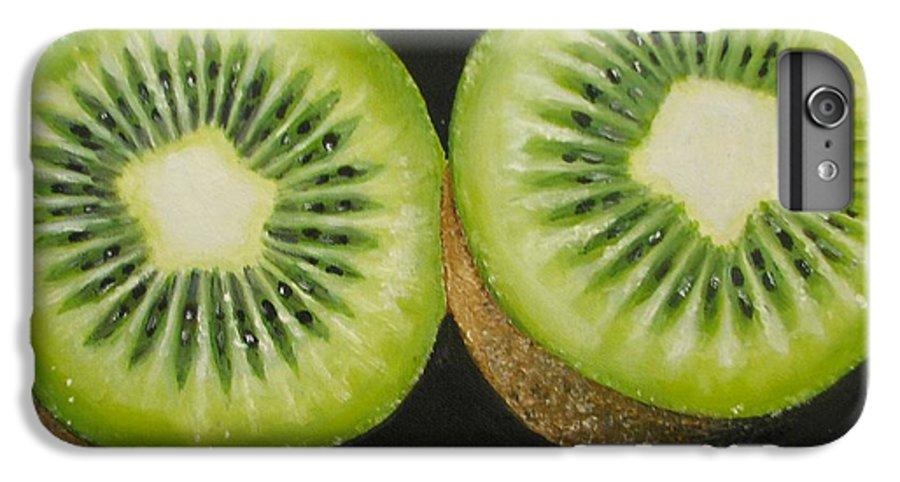 Kiwi IPhone 6 Plus Case featuring the painting Green Kiwi Oil Painting by Natalja Picugina