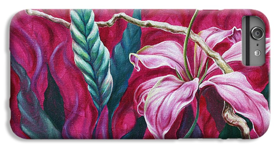 IPhone 6 Plus Case featuring the painting Green Leaf by Jennifer McDuffie
