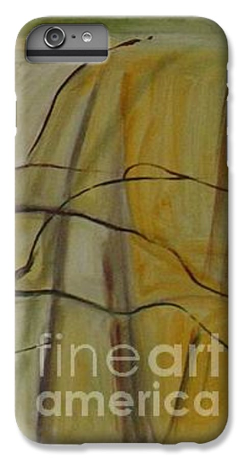 Spring Young Trees Saplings Trees IPhone 6 Plus Case featuring the painting Green Sonnet by Leila Atkinson