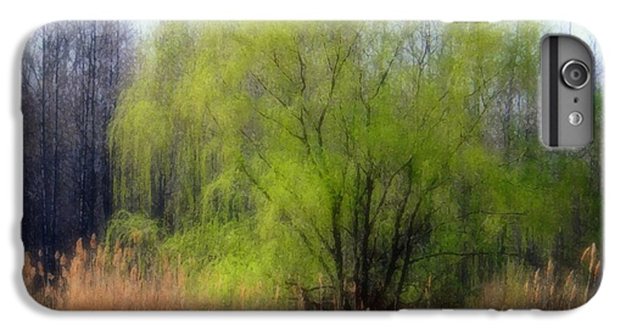 Scenic Art IPhone 6 Plus Case featuring the photograph Green Tree by Linda Sannuti