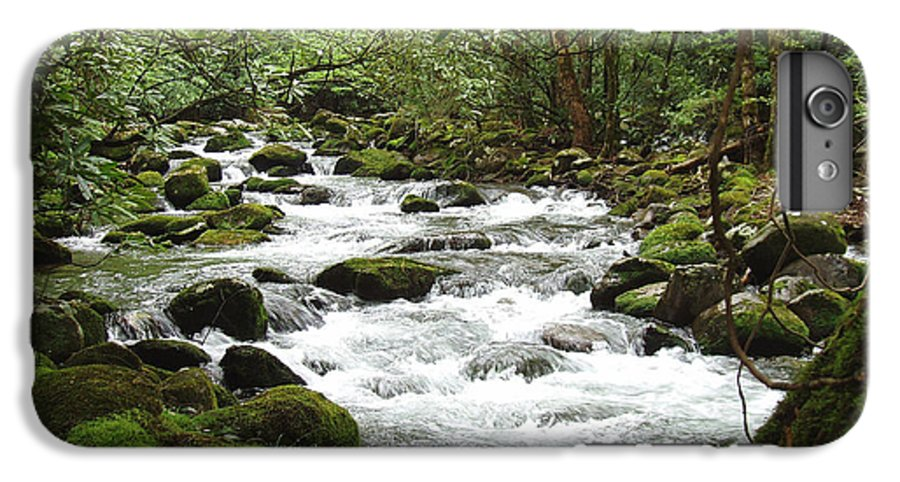 Smoky Mountains IPhone 6 Plus Case featuring the photograph Greenbrier River Scene 2 by Nancy Mueller