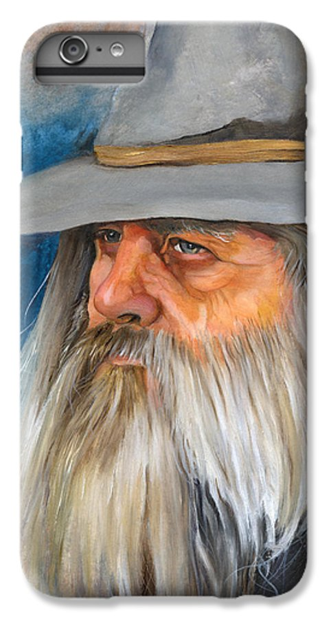 Wizard IPhone 6 Plus Case featuring the painting Grey Days by J W Baker