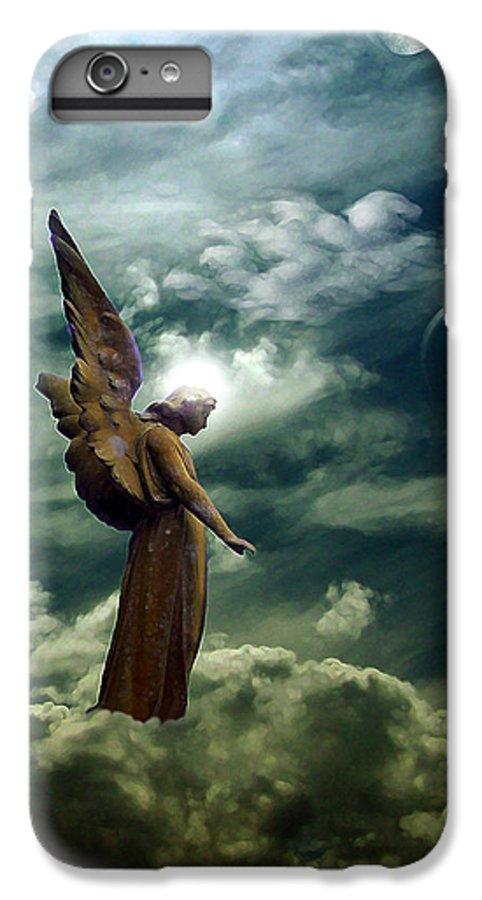 Sky IPhone 6 Plus Case featuring the digital art Guardian Angel by Ruben Flanagan