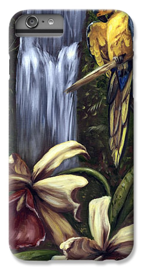 Birds IPhone 6 Plus Case featuring the painting Guardian Of The Falls by Anne Kushnick