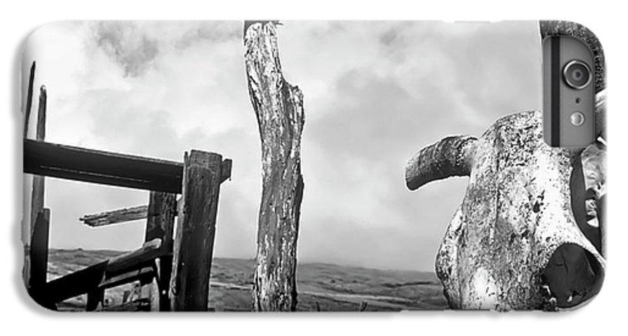 Black And White IPhone 6 Plus Case featuring the photograph Guardian Spirit by Jim Cazel