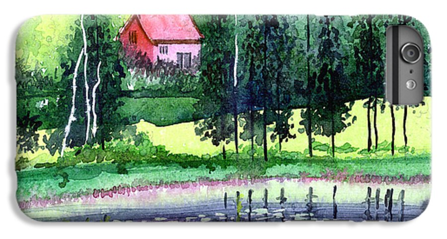 Landscape IPhone 6 Plus Case featuring the painting Guest House by Anil Nene