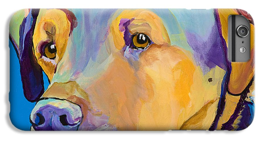 Dog Portrait IPhone 6 Plus Case featuring the painting Gunner by Pat Saunders-White