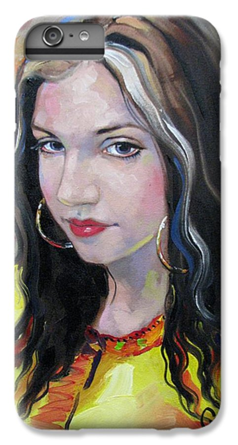 Gypsy IPhone 6 Plus Case featuring the painting Gypsy Girl by Jerrold Carton