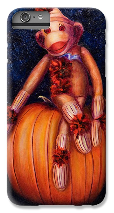Pumpkin IPhone 6 Plus Case featuring the painting Halloween by Shannon Grissom