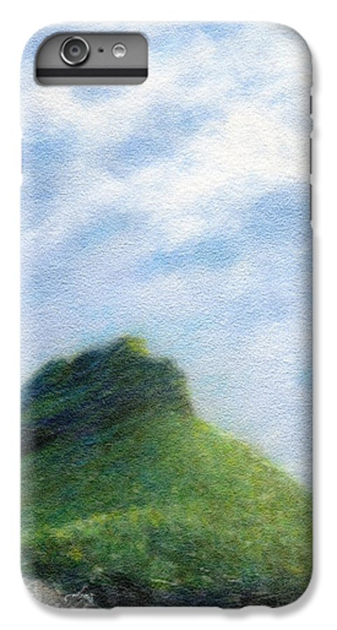 Rainbow Colors Pastel IPhone 6 Plus Case featuring the painting Hanakapia Beach View by Kenneth Grzesik