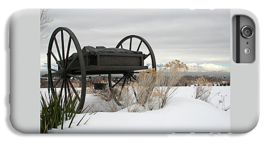 Handcart IPhone 6 Plus Case featuring the photograph Handcart Monument by Margie Wildblood