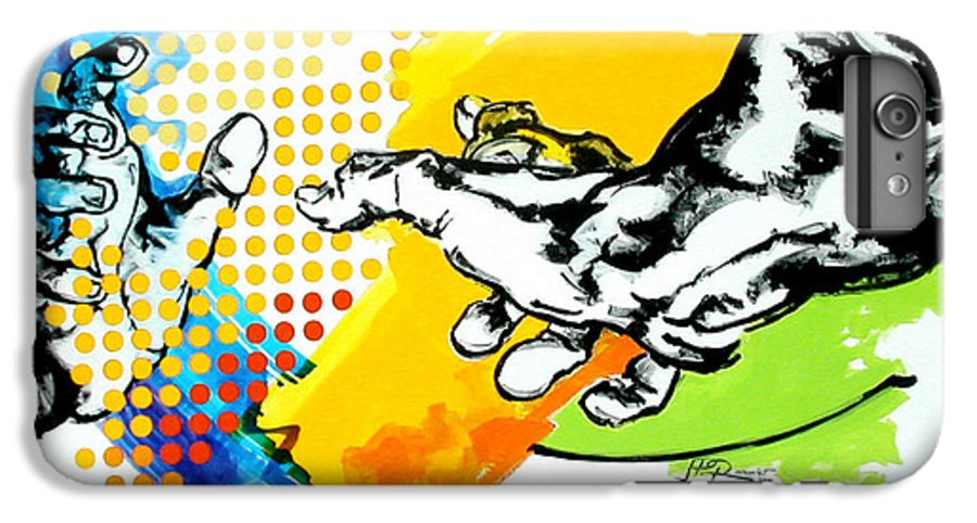 Classic IPhone 6 Plus Case featuring the painting Hands by Jean Pierre Rousselet