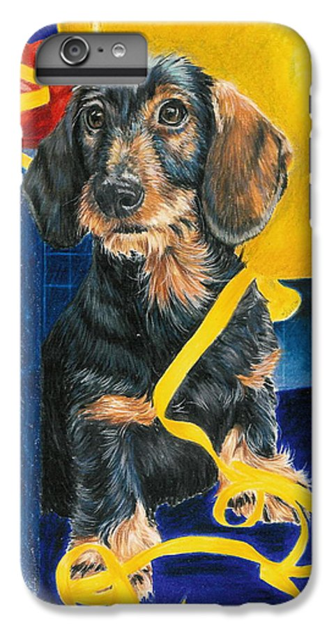 Dogs IPhone 6 Plus Case featuring the drawing Happy Birthday by Barbara Keith