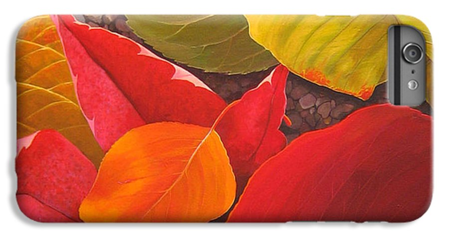 Autumn Leaves IPhone 6 Plus Case featuring the painting Happy Landings by Hunter Jay