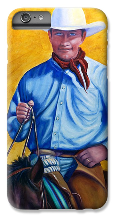 Cowboy IPhone 6 Plus Case featuring the painting Happy Trails by Shannon Grissom