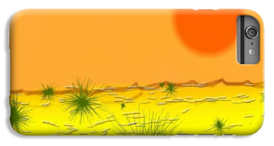 Sky.sun.desert.sand.heat.rare Bushes Of The Prickle.dust.dry. IPhone 6 Plus Case featuring the digital art Hard Sun Of Desert by Dr Loifer Vladimir