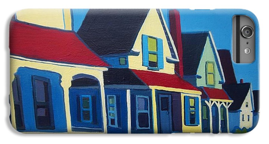 Maine IPhone 6 Plus Case featuring the painting Harpswell Cottages by Debra Bretton Robinson