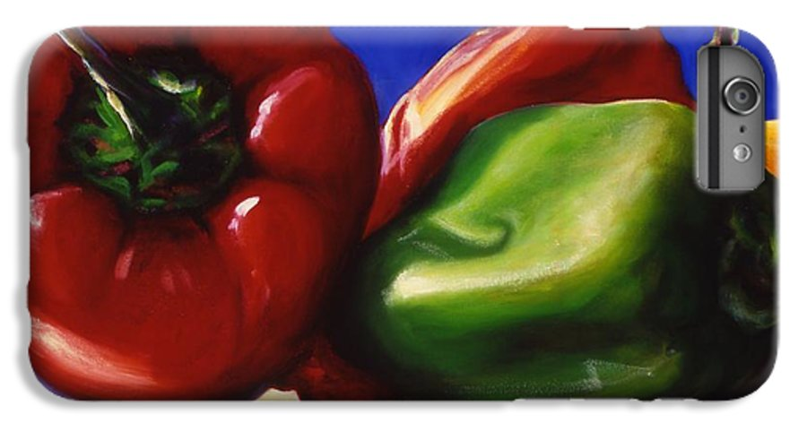 Still Life IPhone 6 Plus Case featuring the painting Harvest Festival Peppers by Shannon Grissom