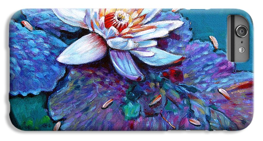 Water Lily IPhone 6 Plus Case featuring the painting Harvest Moon by John Lautermilch