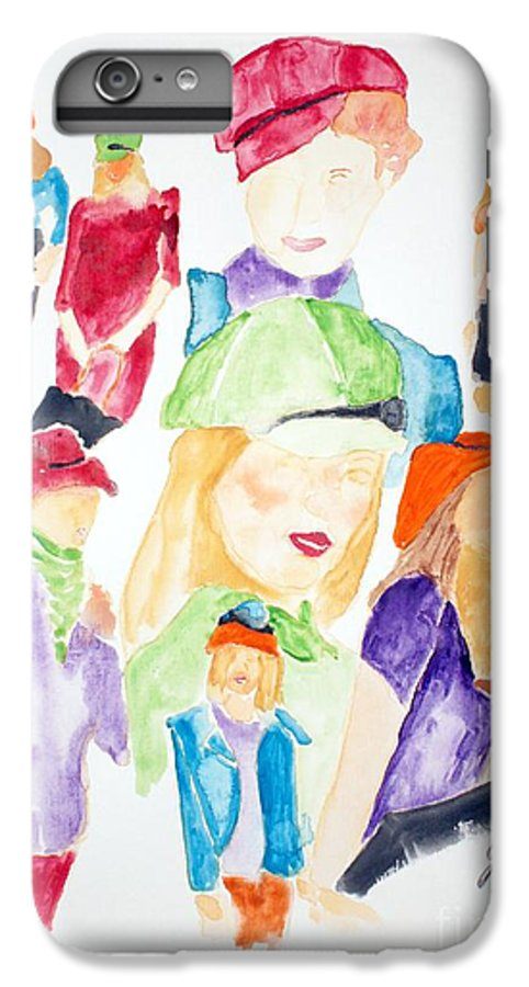 Hats IPhone 6 Plus Case featuring the painting Hats by Shelley Jones