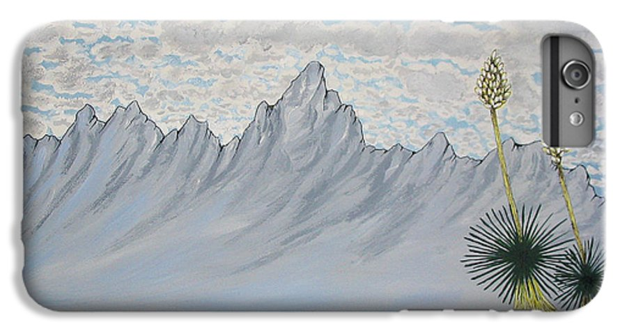 Desertscape IPhone 6 Plus Case featuring the painting Hazy Desert Day by Marco Morales