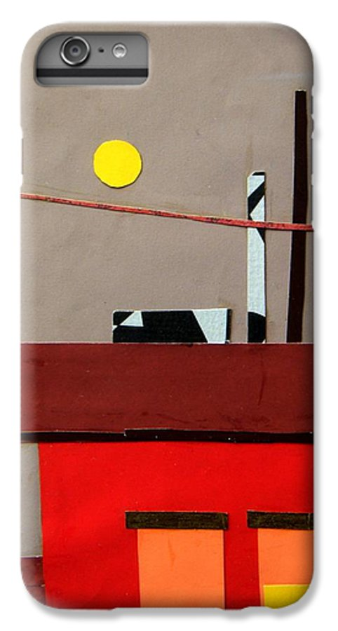 City IPhone 6 Plus Case featuring the mixed media Hazy Rooftops 2 by Debra Bretton Robinson