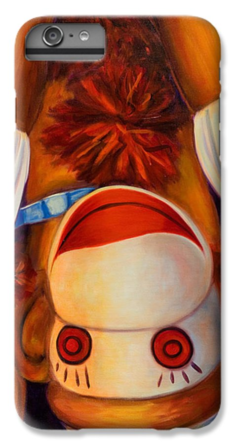 Children IPhone 6 Plus Case featuring the painting Head-over-heels by Shannon Grissom