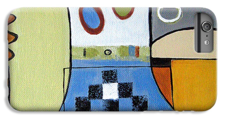 Abstract IPhone 6 Plus Case featuring the painting Headspin by Ruth Palmer