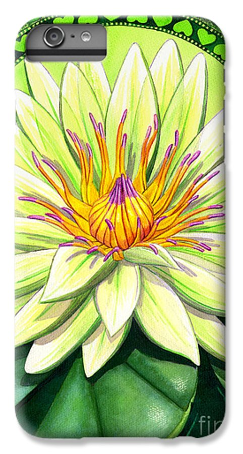 Heart IPhone 6 Plus Case featuring the painting Heart Chakra by Catherine G McElroy