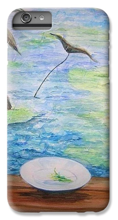 Feng Shui Study IPhone 6 Plus Case featuring the painting Heaven Sent Gentle Rain by Lizzy Forrester