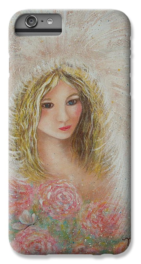 Angel IPhone 6 Plus Case featuring the painting Heavenly Angel by Natalie Holland