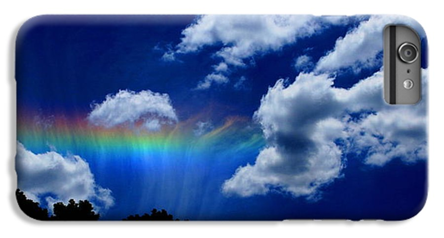 Heavens Rainbow IPhone 6 Plus Case featuring the photograph Heavens Rainbow by Linda Sannuti