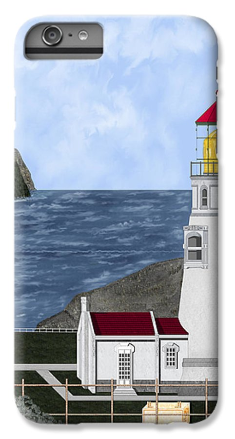Lighthouse IPhone 6 Plus Case featuring the painting Heceta Head Oregon by Anne Norskog
