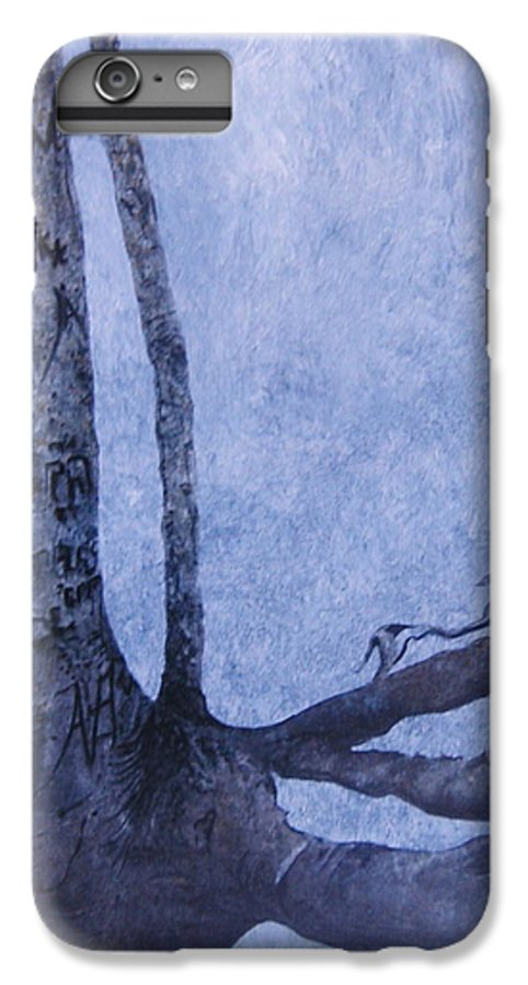 Tree Trunk IPhone 6 Plus Case featuring the painting Hedden Park II by Leah Tomaino