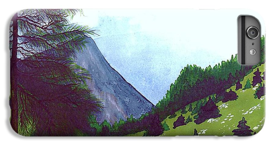 Original Painting IPhone 6 Plus Case featuring the painting Heidi's Place by Patricia Griffin Brett