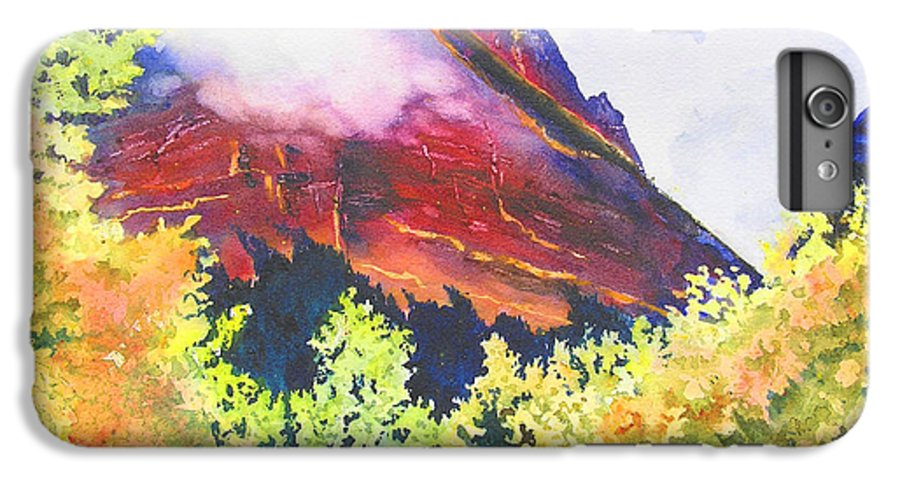 Mountain IPhone 6 Plus Case featuring the painting Heights Of Glacier Park by Karen Stark