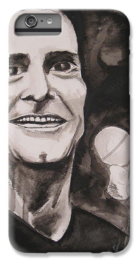 Author Black Darkestartist Flag Henry Ink Musician Panting Portrait Rollins Spoken Watercolor Darkest Artist IPhone 6 Plus Case featuring the painting Henry Rollins by Darkest Artist