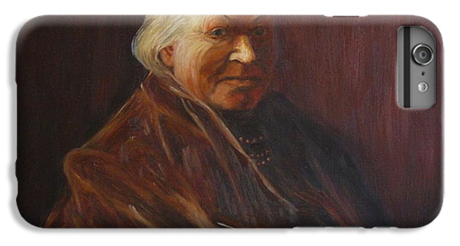 Woman IPhone 6 Plus Case featuring the painting Herbert Abrams Mother by Quwatha Valentine
