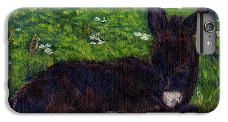 Donkey IPhone 6 Plus Case featuring the painting Hercules by Sharon E Allen