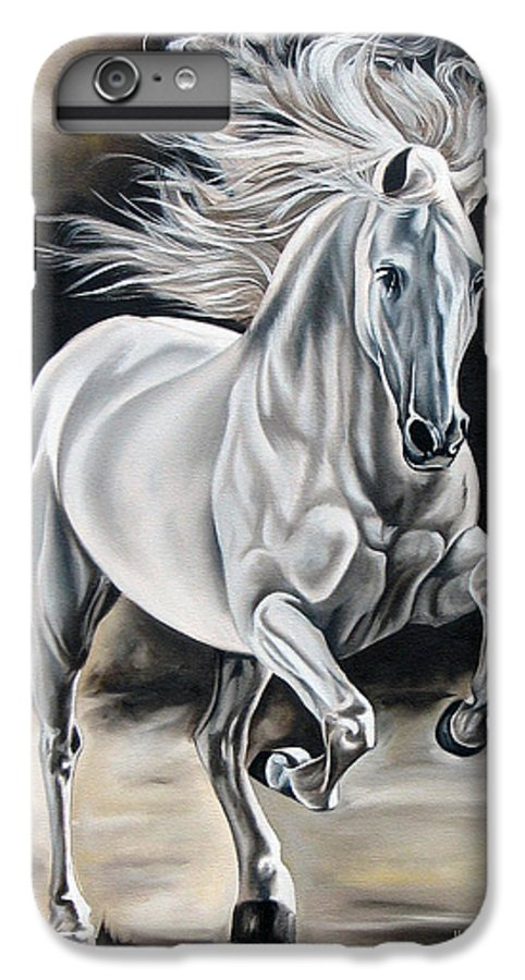 Horse IPhone 6 Plus Case featuring the painting Hereje by Ilse Kleyn