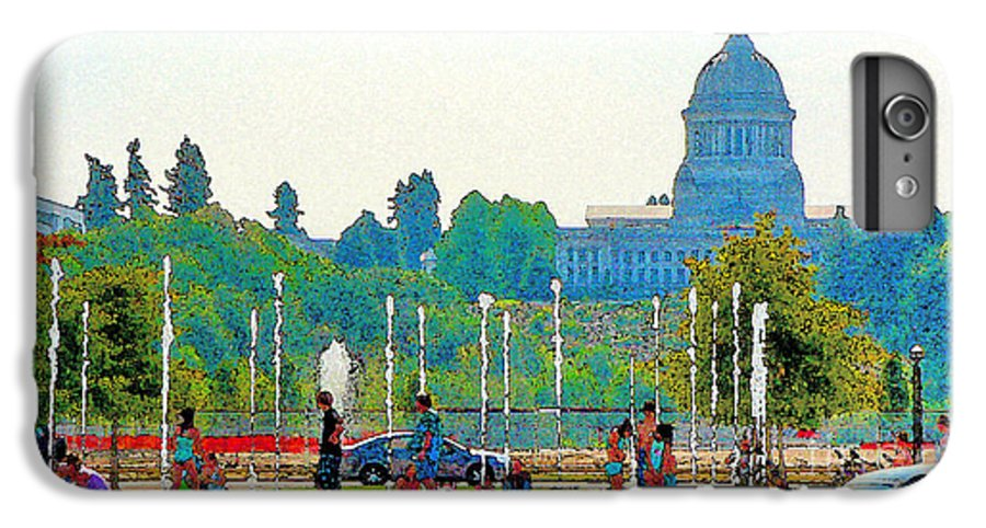 Park IPhone 6 Plus Case featuring the photograph Heritage Park Fountain by Larry Keahey