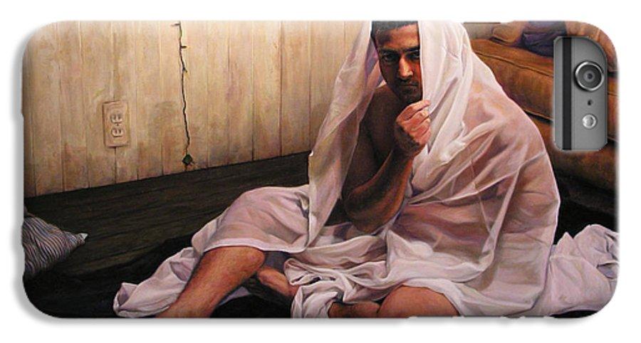 Hermit IPhone 6 Plus Case featuring the painting Hermit by Joe Velez