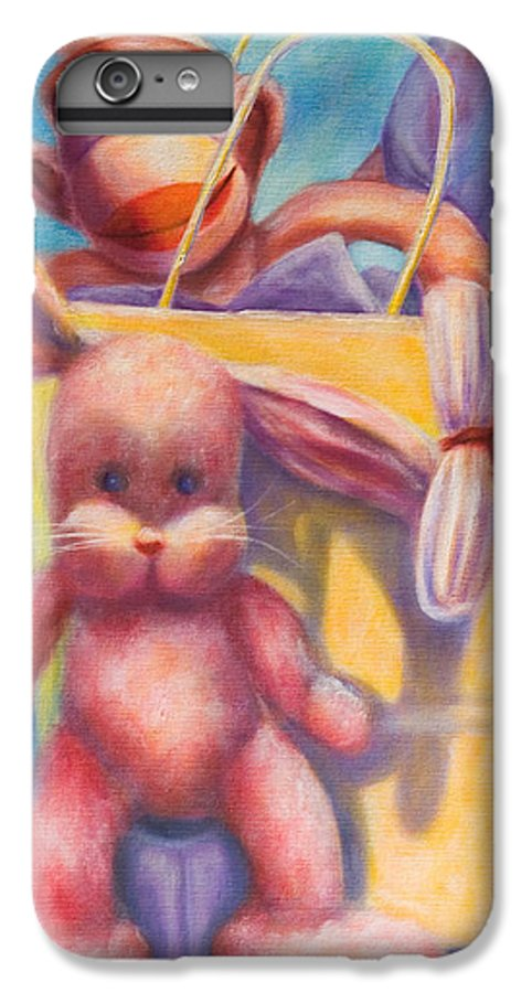 Children IPhone 6 Plus Case featuring the painting Hide And Seek by Shannon Grissom